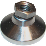 "Standard Leveling Mount - Steel - 5/16-18 Thread - 1-1/4"" Dia. x 7/8"" H - 2500 Lb. Capacity"