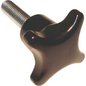Metric Plastic Star Knob Screws - M8x1.25 Thread - 30mm Thread Length - 40mm Knob Dia. - PHK-4830 - Pkg Qty 5
