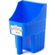 Little Giant Enclosed Feed Scoop 150415, Heavy-Duty Polypropylene, 3 Qt., Blue - Pkg Qty 12