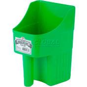 Little Giant Enclosed Feed Scoop 153874, Heavy-Duty Polypropylene, 3 Qt., Lime Green - Pkg Qty 12