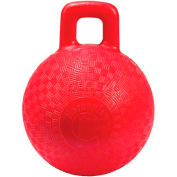 "Little Giant Horse & Dog Playground Ball 160414, Non-Toxic Plastic, 8"" Dia., Red - Pkg Qty 6"