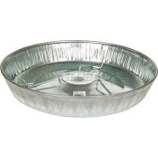 "Little Giant 17"" Poultry Feeder Pan 9173, Galvanized Steel - Pkg Qty 12"