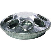 Little Giant Round Chick Feeder 9808, Galvanized Steel, 8 Holes - Pkg Qty 12