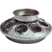 Little Giant Chick Feeder Base 9810, Galvanized Steel, Use With Little Giant 690 Jar