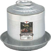 Little Giant Double-Wall Poultry Fount 9832, Galvanized Steel, 2 Gal. - Pkg Qty 4