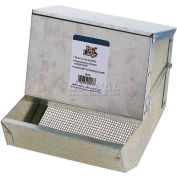 "Pet Lodge 7"" Small Animal Feeder Af7sl, Heavy Gauge Galv. Steel, Inc. Lid & Sifter Btm. - Pkg Qty 12"