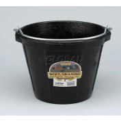 Little Giant All-Purpose Pail Df10, Duraflex Rubber, 10 Qt., Black - Pkg Qty 12