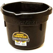 Little Giant All-Purpose Pail Df12fb, Duraflex Rubber, 12 Qt., Black - Pkg Qty 12