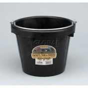 Little Giant All-Purpose Pail Df8, Duraflex Rubber, 8 Qt., Black - Pkg Qty 12