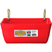 Little Giant Fence Feeder W/Metal Clips Ff11red, Polyethylene, 4.5 Qt., Red - Pkg Qty 6