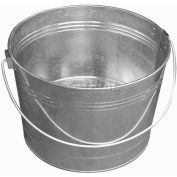 Little Giant Round Tub GWT425, Galvanized Steel, 4.25 Gal., Silver