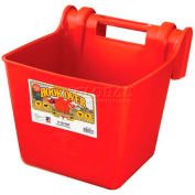 Little Giant Economy Hook Over Feeder Hf15red, Impact-Resistant Plastic, 15 Qt., Red - Pkg Qty 6