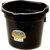 Little Giant Flat-Back Bucket P20fbblack, Duraflex Plastic, 20 Qt., Black - Pkg Qty 12