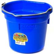 Little Giant® Flat-Back Bucket P20FBBLUE, Duraflex Plastic, 20 Qt., Blue