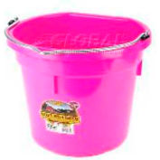 Little Giant Flat-Back Bucket P20fbhotpink, Duraflex Plastic, 20 Qt., Hot Pink - Pkg Qty 12