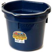 Little Giant Flat-Back Bucket P20fbnavy, Duraflex Plastic, 20 Qt., Navy Blue - Pkg Qty 12