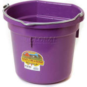 Little Giant Flat-Back Bucket P20fbpurple, Duraflex Plastic, 20 Qt., Purple - Pkg Qty 12