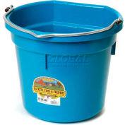 Little Giant Flat-Back Bucket P20fbteal, Duraflex Plastic, 20 Qt., Teal - Pkg Qty 12