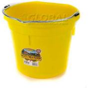 Little Giant Flat-Back Bucket P20fbyellow, Duraflex Plastic, 20 Qt., Yellow - Pkg Qty 12