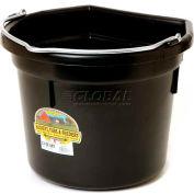 Little Giant Flat-Back Bucket P22fbblack, Duraflex Plastic, 22 Qt., Black - Pkg Qty 12