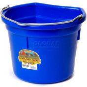 Little Giant Flat-Back Bucket P22fbblue, Duraflex Plastic, 22 Qt., Blue - Pkg Qty 12
