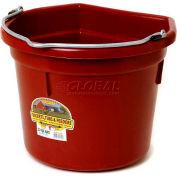 Little Giant Flat-Back Bucket P22fbburgundy, Duraflex Plastic, 22 Qt., Burgundy - Pkg Qty 12