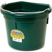 Little Giant Flat-Back Bucket P22fbgreen, Duraflex Plastic, 22 Qt., Green - Pkg Qty 12
