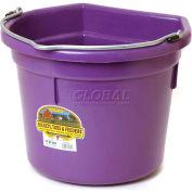 Little Giant Flat-Back Bucket P22fbpurple, Duraflex Plastic, 22 Qt., Purple - Pkg Qty 12