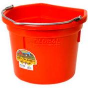 Little Giant Flat-Back Bucket P22fbred, Duraflex Plastic, 22 Qt., Red - Pkg Qty 12