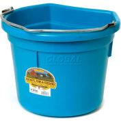Little Giant Flat-Back Bucket P22fbteal, Duraflex Plastic, 22 Qt., Teal - Pkg Qty 12