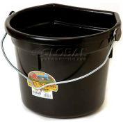 Little Giant Flat-Back Bucket W/Knob Bail P24fbblack, Duraflex Plastic, 22 Qt., Black - Pkg Qty 12