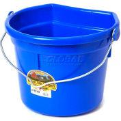 Little Giant Flat-Back Bucket W/Knob Bail P24fbblue, Duraflex Plastic, 22 Qt., Blue - Pkg Qty 12