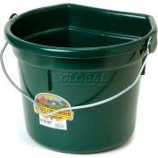 Little Giant Flat-Back Bucket W/Knob Bail P24fbgreen, Duraflex Plastic, 22 Qt., Green - Pkg Qty 12