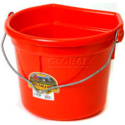 Little Giant Flat-Back Bucket W/Knob Bail P24fbred, Duraflex Plastic, 22 Qt., Red - Pkg Qty 12