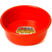 Little Giant Utility Feed Pan P5red, Duraflex Plastic, 5 Qt., Red - Pkg Qty 24