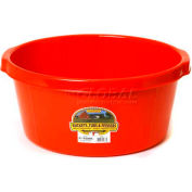 Little Giant All-Purpose Tub P65red, Duraflex Plastic, 6.5 Gal., Red - Pkg Qty 6
