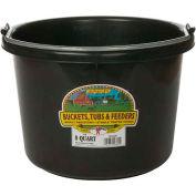 Miller Mfg. P8BLACK 8 Quart Poly Bucket