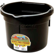 Little Giant Flat Back Bucket P8fbblack, Duraflex Plastic, 8 Qt., Black - Pkg Qty 24