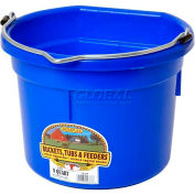 Little Giant Flat Back Bucket P8fbblue, Duraflex Plastic, 8 Qt., Blue - Pkg Qty 24