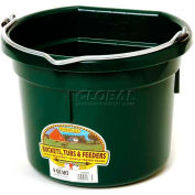 Little Giant Flat Back Bucket P8fbgreen, Duraflex Plastic, 8 Qt., Green - Pkg Qty 24