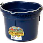 Little Giant Flat Back Bucket P8fbnavy, Duraflex Plastic, 8 Qt., Navy - Pkg Qty 24