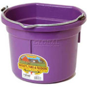 Little Giant Flat Back Bucket P8fbpurple, Duraflex Plastic, 8 Qt., Purple - Pkg Qty 24