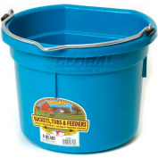 Little Giant Flat Back Bucket P8fbteal, Duraflex Plastic, 8 Qt., Teal - Pkg Qty 24