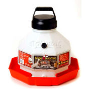Little Giant Automatic Poultry Waterer Ppf3, Heavy-Duty Translucent Plastic, 3 Gal. - Pkg Qty 2