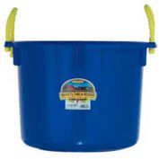 Little Giant Muck Tub W/Rope Handles Psb40blue, Polyethylene & Poly Rope, 40 Qt., Blue - Pkg Qty 6