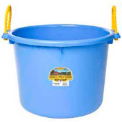Little Giant PSB70BERRYBLUE Muck Bucket w/Rope Handles Poly & Poly Rope 70 Qt., Berry Blue - Pkg Qty 6