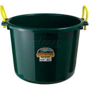 Little Giant Muck Bucket W/Rope Handles Psb70green, Polyethylene & Poly Rope, 70 Qt, Green - Pkg Qty 6
