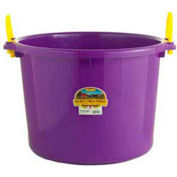 Little Giant Muck Tub W/Rope Handles Psb70purple, Polyethylene & Poly Rope, 70 Qt., Purple - Pkg Qty 6