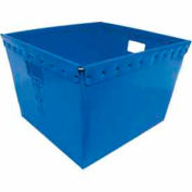 Corrugated Plastic Nestable Tote, 21x19x14, Blue (Min. Purchase Qty 48+)