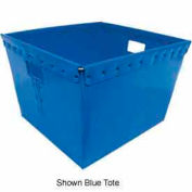 Corrugated Plastic Nestable Tote, 21x19x14, Yellow (Min. Purchase Qty 48+)